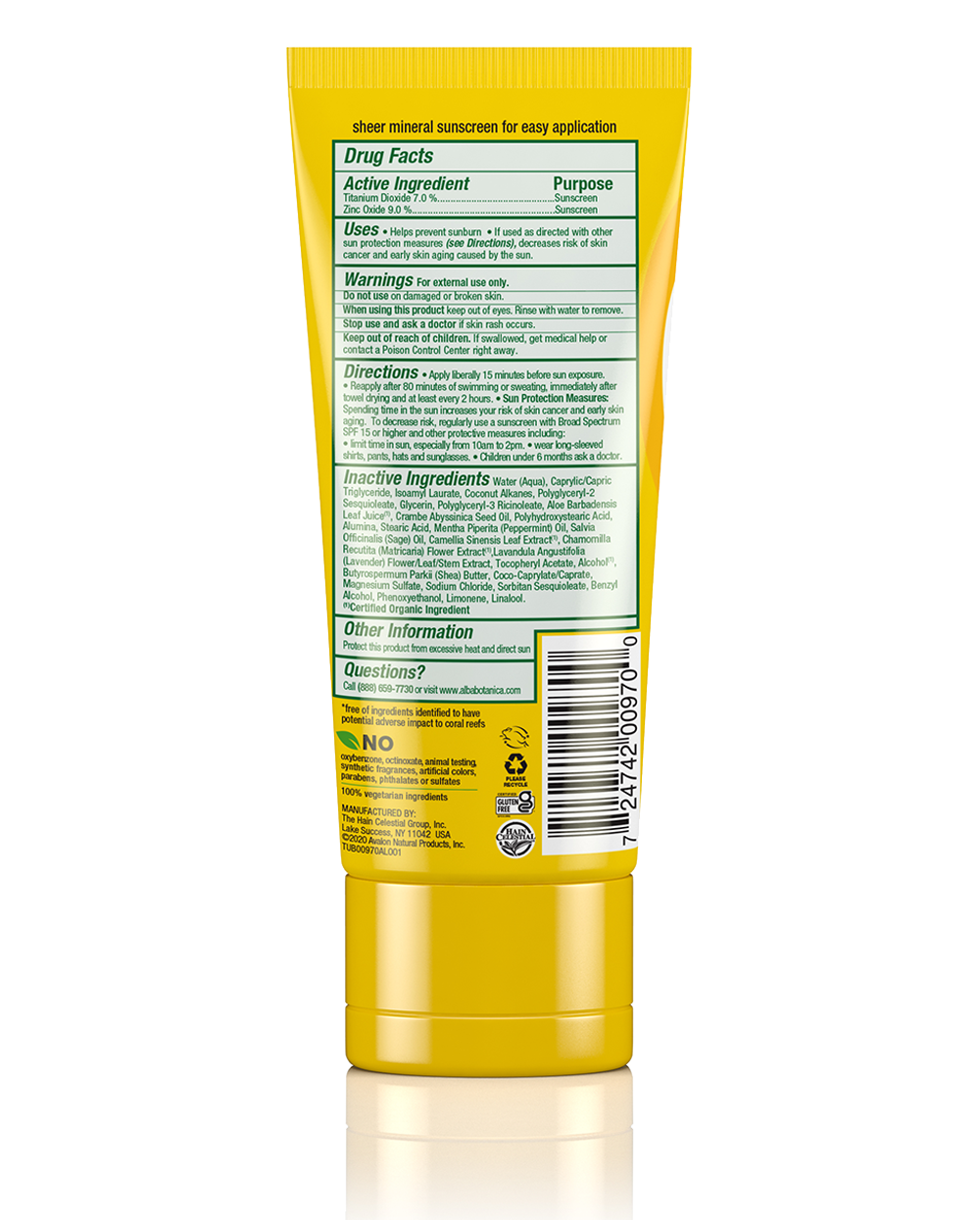 clear mineral sunscreen wild mint lotion spf