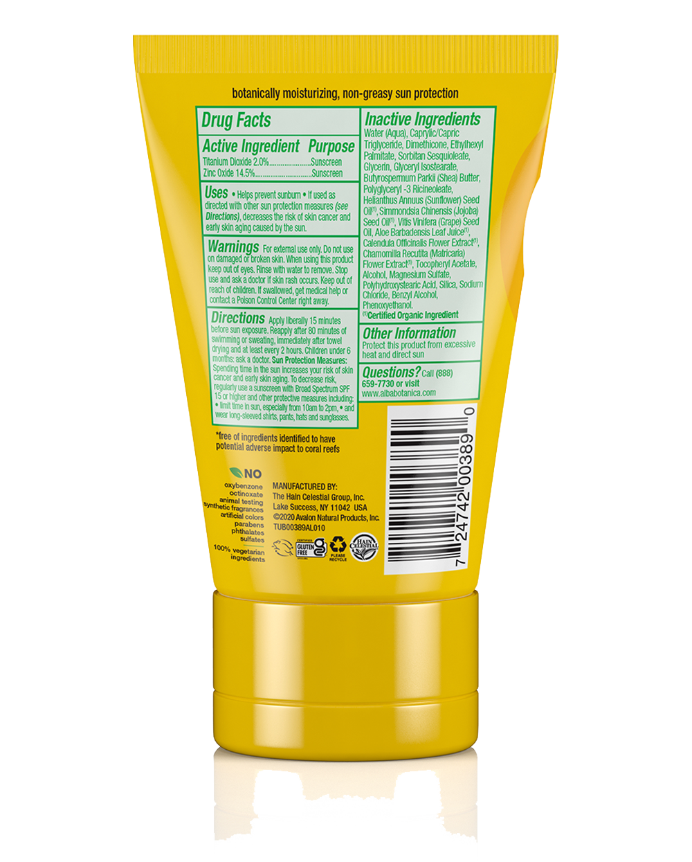 fragrance free mineral sunscreen lotion