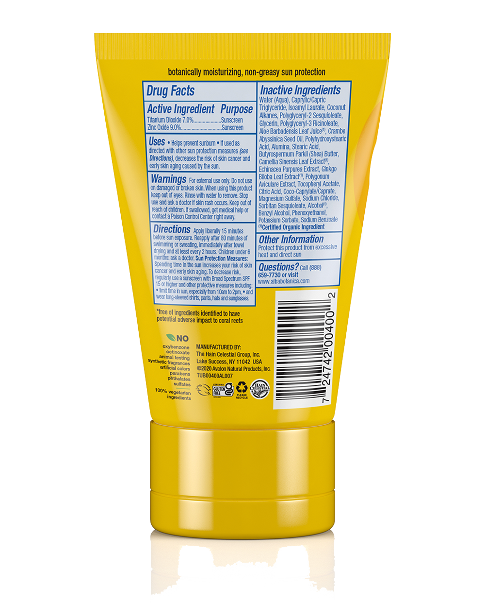 sport mineral sunscreen fragrance free lotion spf